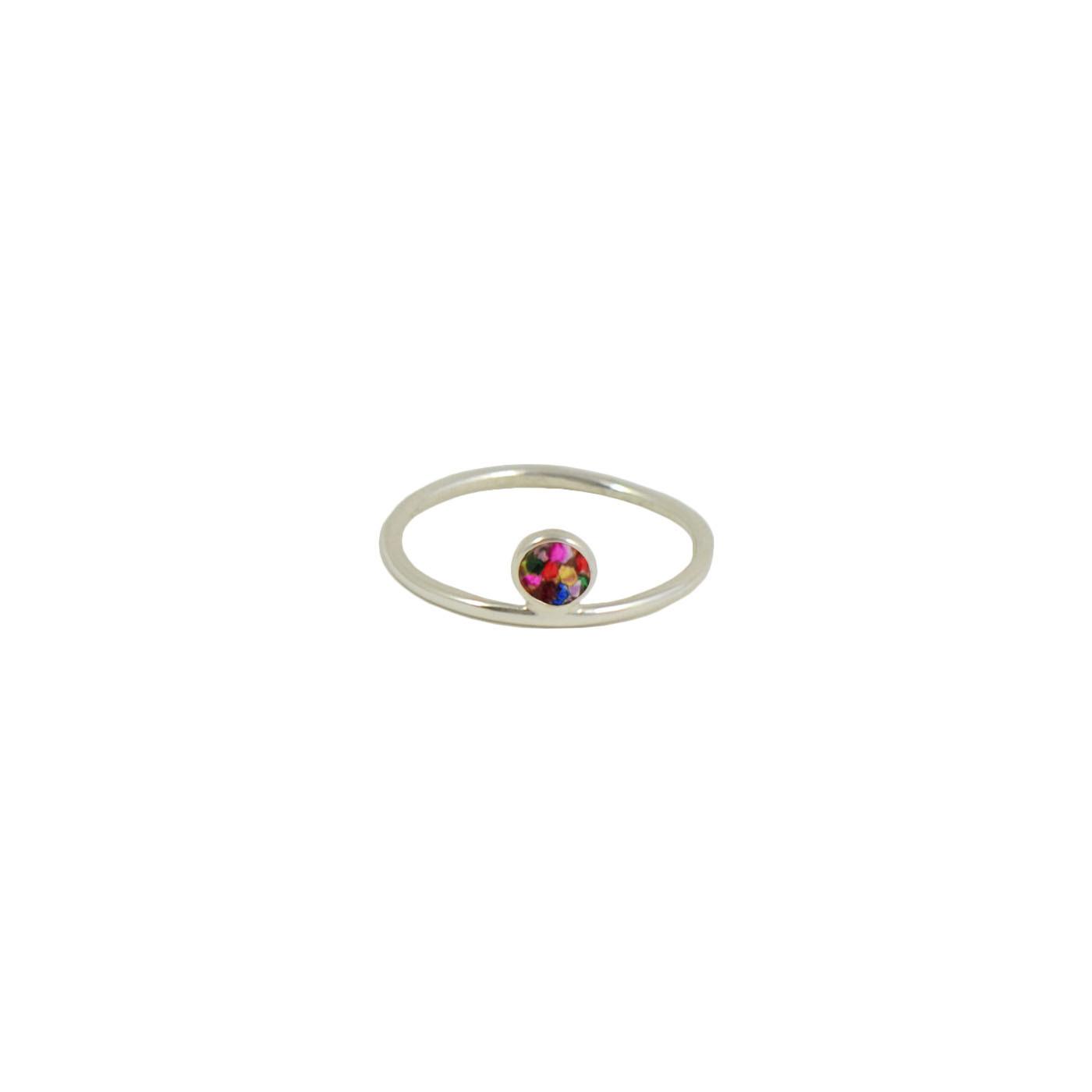 sterling silver multiglitter ring