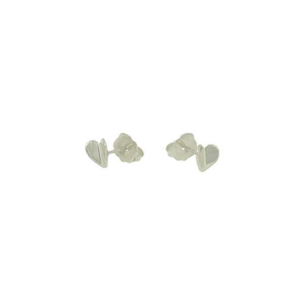 tiny flying heart studs