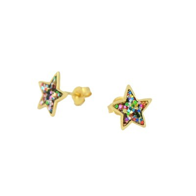 multi-glitter-gold-star-studs-one