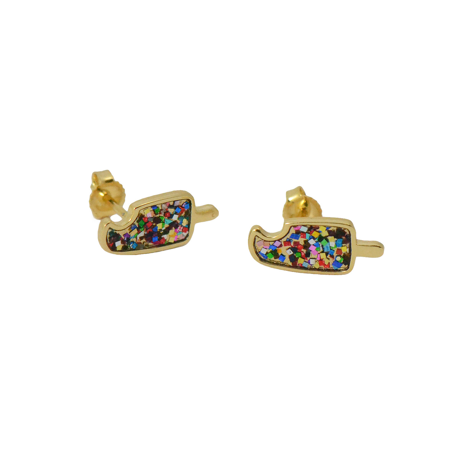 popsicle studs with glittery enamel