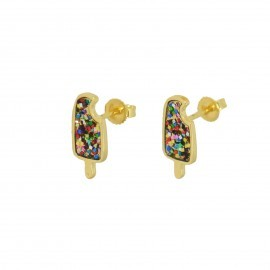 multiglitter popsicle studs in 14k gold vermeil
