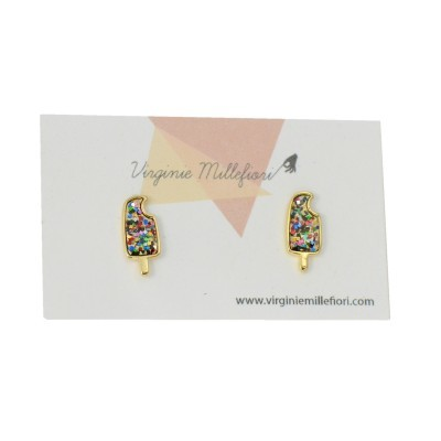 multiglitter popsiclestuds on earring card