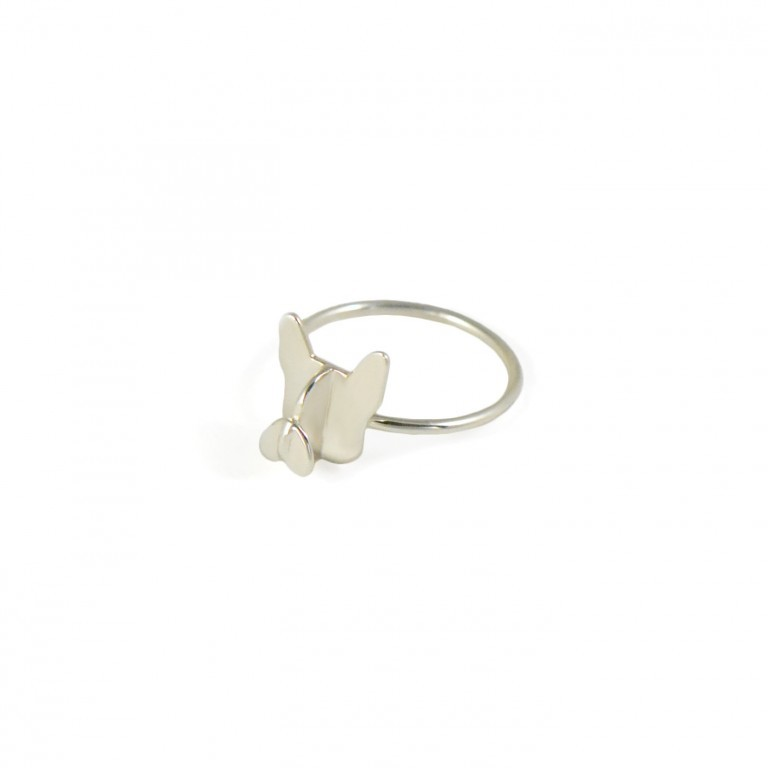 frenchie ring in 925 sterling silver