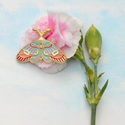 moth pin on carnation