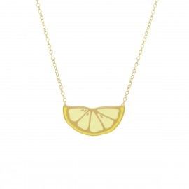 lemon necklace gold
