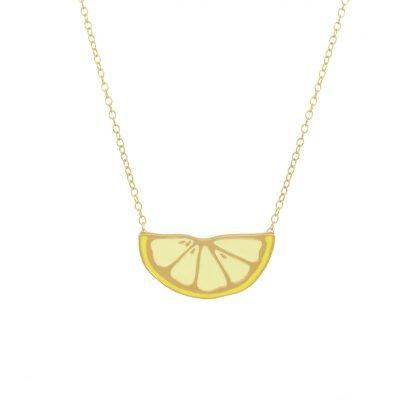 lemon necklace gold