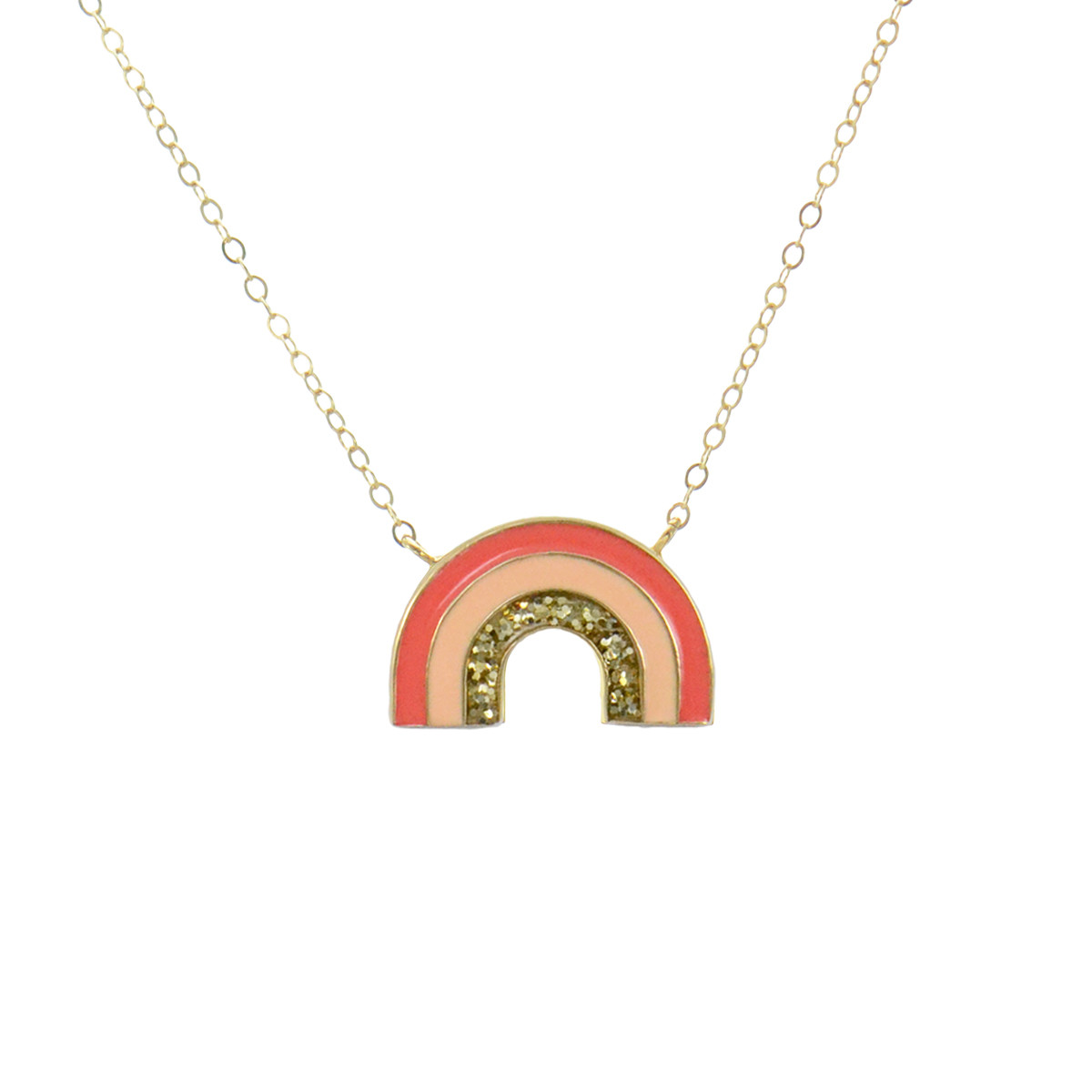 necklace rainbow bar wg yg products collection mini ef