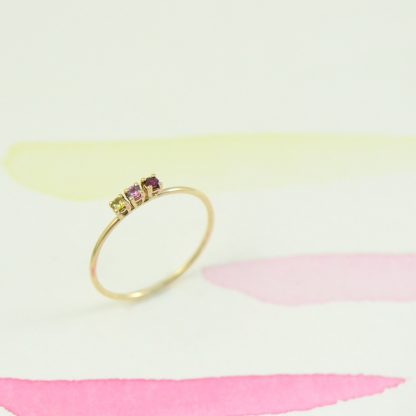 gold ruby sapphire ring