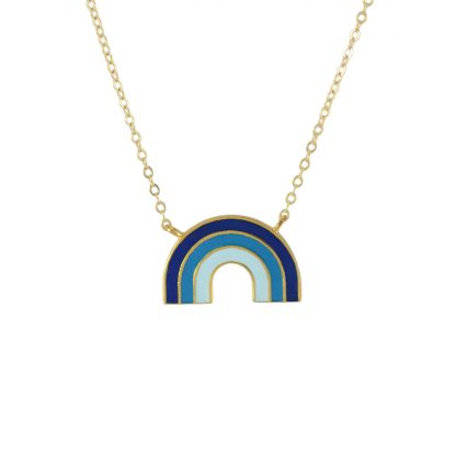 rainbow neck gold blues