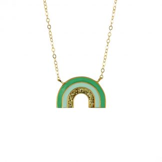 green rainbow necklace