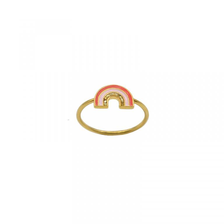 Gold rainbow ring