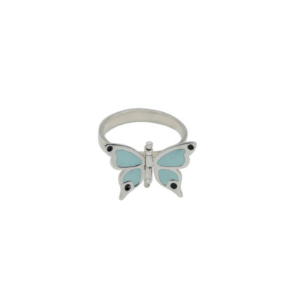articulated butterfly ring in sterling silver