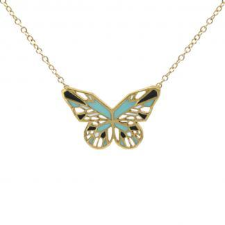 Butterfly-Necklace-Gold-Mint-and-Black