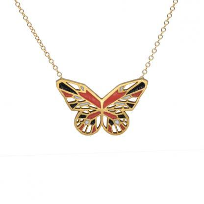 Monarch Butterfly necklace gold