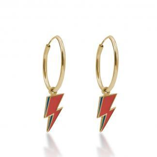 Gold bolt hoops