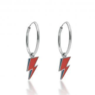 Silver bolt hoops