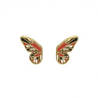monarch butterfly earrings gold