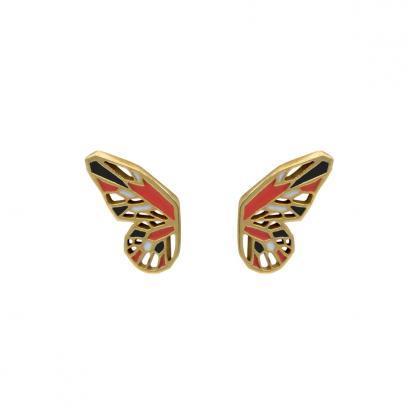 monarch butterfly earrings gold