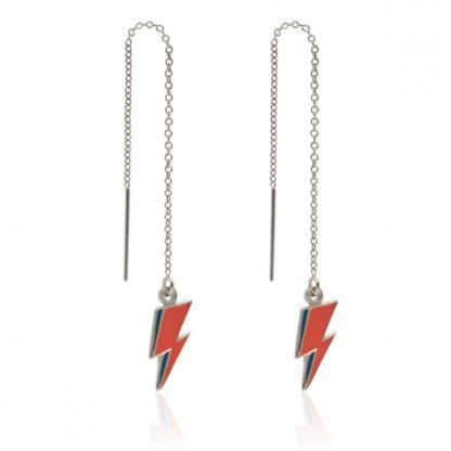 lightning bolt ear threader 925 silver