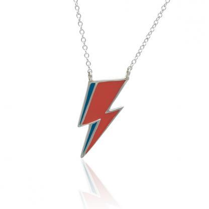 Bolt necklace in sterling silver