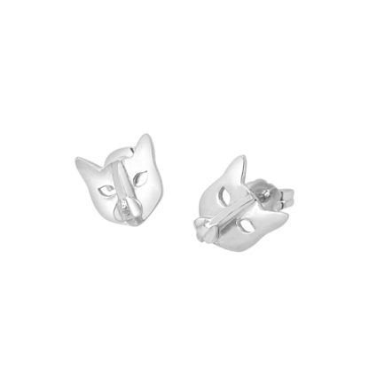 cat studs in 925 sterling silver