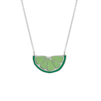 lime necklace in sterling silver