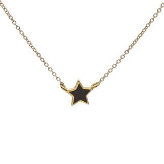 black star gold necklace
