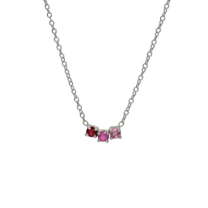 ruby arch necklace in sterling silver