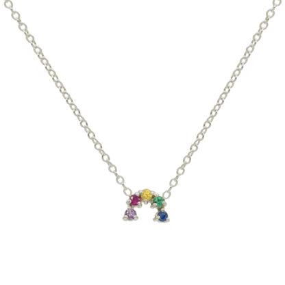 mini arch rainbow gemstones sterling silver
