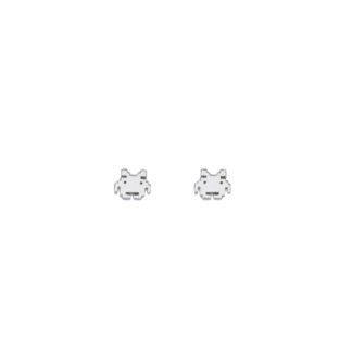 mini space invaders earrings studs in 925 sterling silver